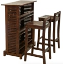 Catrina 3-Piece Mahogany Wood Bar Stool Set for $286 + free shipping