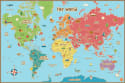 Wall Pops Kids World Dry Erase Map Decal for $7 w/ $25 purchase + free shipping w/ Prime