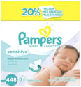 Pampers Sensitive Baby Wipes 64-Count 7-Pack for $10 + free shipping
