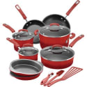Rachael Ray 15-Piece Nonstick Cookware Set for $98 + free shipping