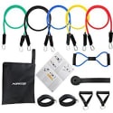 Morecco Resistance Band 11-Piece Set for $16 + free shipping w/ Prime
