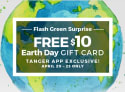$10 Tanger Outlets Gift Card: free w/ mobile app