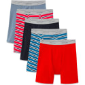 Fruit of the Loom Men's Boxer Briefs 5-Pack for $12 + pickup at Walmart