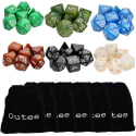 Outee 7-Pc Dungeons & Dragons / RPG Dice 6-Pk for $10 + free shipping w/ Prime
