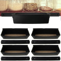 4 Rubbermaid Shelf Tracks w/ Storage Bins for $12 + free shipping