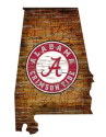 NCAA Wood College State Sign for $34 + free shipping