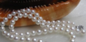 Saltwater-Cultured Akoya White Pearl Necklace for $85 + free shipping