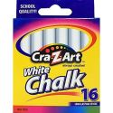 Cra-Z-Art White Chalk 16-Count for $1 + pickup at Staples