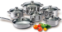 12-Piece Stainless Steel Cookware Set for $40 + free shipping