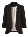 SheIn Women's Boyfriend Rolled Sleeves Blazer for $28 + free shipping
