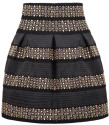 Women's High Waist Rivet Studs Striped Skirt for $13 + $5 s&h