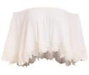 SheIn Women's Lace Trimmed Crop Top Shirt for $12 + free shipping