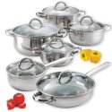 Cook N Home 12-Piece Steel Cookware Set for $46 + free shipping