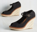 ModCloth Women's Espadrille Wedge Sandals for $13 + $6 s&h