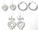 3 Pairs of Austrian Clear Crystal Earrings for $10 + free shipping