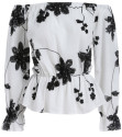 Women's Off the Shoulder Floral Blouse for $12 + free shipping