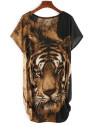 Sheinside Women's Tiger Print Loose Fit Dress for $10 + free shipping