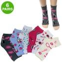 6 Women's Salon Print Pedicure Fashion Socks for $10 + free shipping