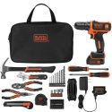 Black + Decker 12V Drill, 64pc Project Kit for $50 + free shipping
