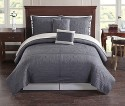 Baroque Tile Reversible King Quilt Set for $70 + free shipping