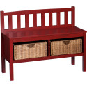 Lincoln Bench with Storage Baskets for $165 + free shipping