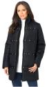 Roaman's Women's Quilted Stud Coat for $50 + $10 s&h