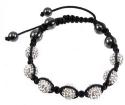 Austrian Crystal Hematite Shamballa Bracelet for $5 + $2 s&h