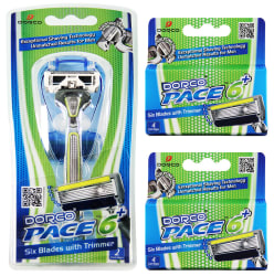 Dorco Men's Pace 6 Plus Razor Combo Set for $13