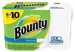 Bounty Paper Towel Mega Roll 6-Pack for $6