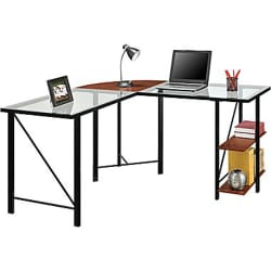 Altra Aden Glass Corner Computer Desk for $80