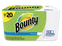 Bounty Select-A-Size Paper Towels 12-Pack for $15