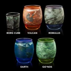 Star Trek Planetary Glassware Set for $15
