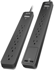 APC 6-Outlet Surge Protector 2-Pack from $10