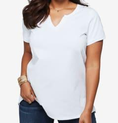 Roaman's Women's Pima Cotton T-Shirt from $8