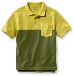 L.L.Bean Boys' Double L Colorblock Shirt for $8
