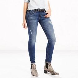 Levi's Women's 711 Selvedge Skinny Jeans for $35