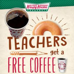 Krispy Kreme Coffee for Teachers free w/ purchase