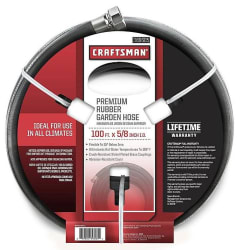 "Craftsman 100-Foot 5/8"" Rubber Garden Hose for $33"