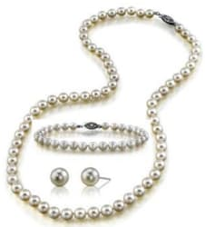Freshwater Cultured Pearl Jewelry Set for $50