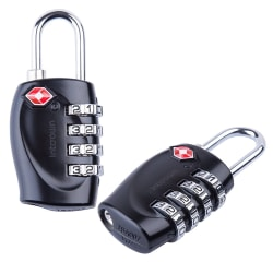 Intcrown 4-Digit Combination Lock 2-Pack for $10