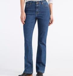 L.L.Bean Women's Plus-Size True Shape Jeans $25