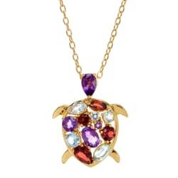 Finecraft Women's Turtle Pendant Necklace for $25