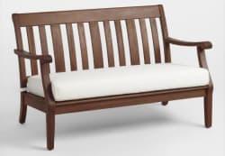 World Market Wood St. Martin Occasional Bench $126