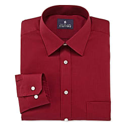 4 Stafford Men's Broadcloth Dress Shirts for $31