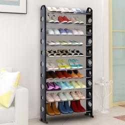iKayaa 10-Tier Shoe Rack for $16