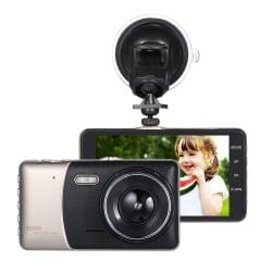 """KKmoon 4"""" Dual Lens Dash Camera w/ DVR for $28"""