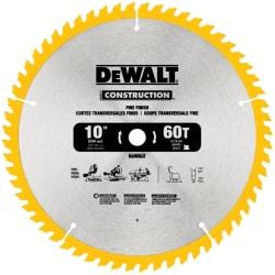 "DeWalt 10"" Carbide-Tipped Circular Saw Blade $15"