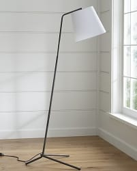 Crate & Barrel Angle Pewter Floor Lamp for $135