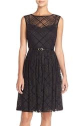Ellen Tracy Women's Plaid Mesh Dress $77