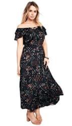 Roaman's Women's Ruffle Collar Dress for $40